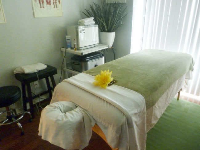 Irina Marukhnyak, registered massage therapist, welcomes you to her relaxing facility.